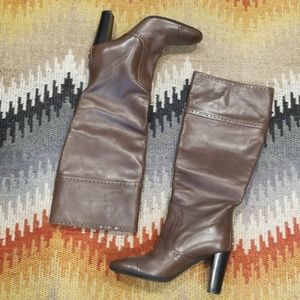 NWOB Gorgeous TOD'S Tall Leather Brown Boots 38.5